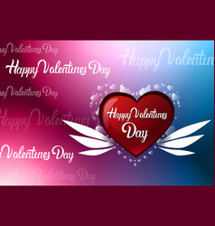 happy valentines day colorful blur background with vector image