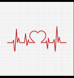 heart cardiogram with heart vector image