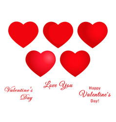 Hearts symbols set vector