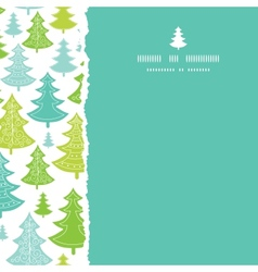 Holiday Christmas trees square torn seamless vector image