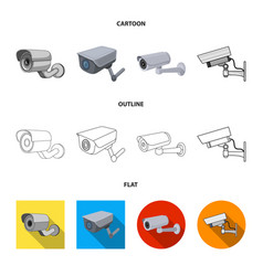 Isolated object camcorder and camera sign vector