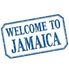 Jamaica - welcome blue vintage isolated label vector