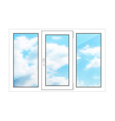 large window on a white background vector image