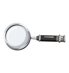 Magnifier translator icon cartoon style vector image