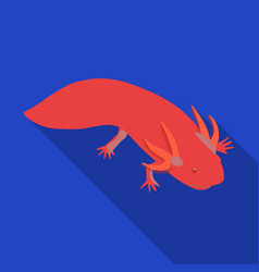 Mexican axolotl icon in flat style isolated vector