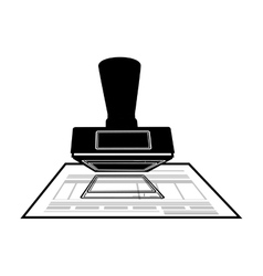 Monochrome office stamp with document vector