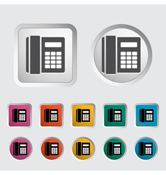 Office phone vector image vector image