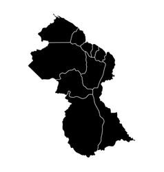 political map of guyana vector image