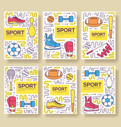 premium quality sport brochure cards thin vector image