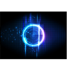 Purple blue light futuristic technology vector