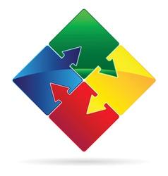 Puzzled arrows vector