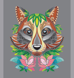 racoon coloring book anti-stress vector image