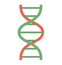 red green dna icon flat style vector image