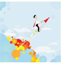 rocket shooting to goal vector image