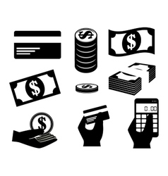 Save the money financial icons design vector