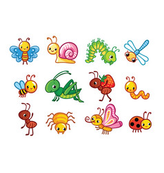 set insects vector image