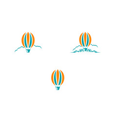set of air balloon logo template vector image