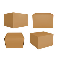 Set of brown boxes vector