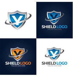 shield logo and icon vector image