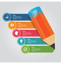 Steps elements concept of pencil education writing vector