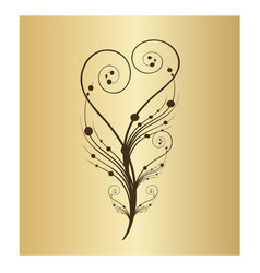 swirly floral vine branch icon vector image