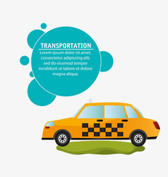 taxi car service transport design vector image