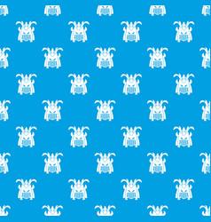 tribal helmet pattern seamless blue vector image