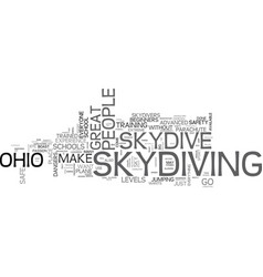 Where can you skydive in ohio text word cloud vector