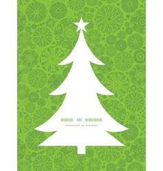 abstract green and white circles Christmas tree vector image