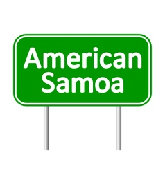 American Samoa road sign vector image vector image