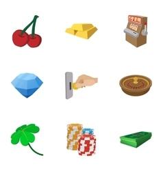 Casino icons set cartoon style vector image vector image