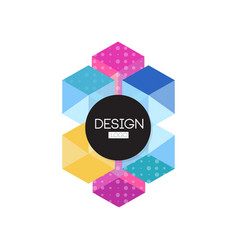 design logo template colorful abctract badge for vector image vector image