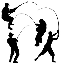 Fishing Silhouette vector image