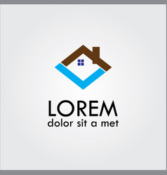 home icon shape logo vector image vector image