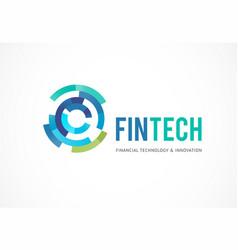 logo concept for digital finance industry vector image vector image