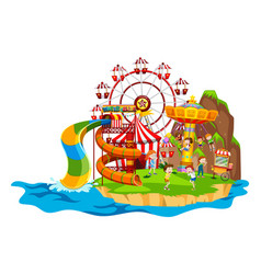 scene with children playing rides vector image vector image