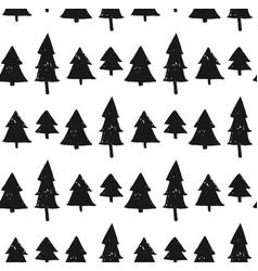seamless christmas background with cute christmas vector image