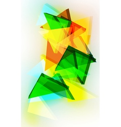Abstract 3d triangular background vector image