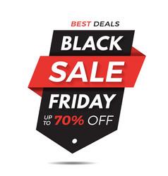 black friday label price tag sale banner badge vector image