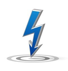 Blue Flash arrow vector image