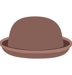 Brown hat vector image vector image