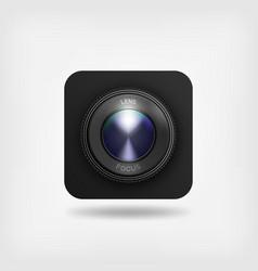 lens of camera symbol vector image vector image