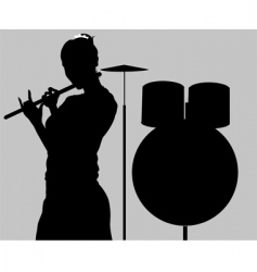 silhouette vector image
