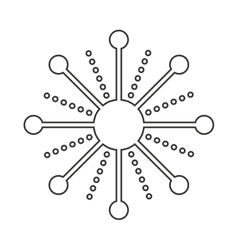 snowflake decoration christmas icon vector image vector image