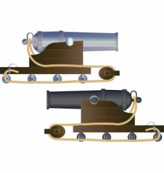 cannon ship vector image