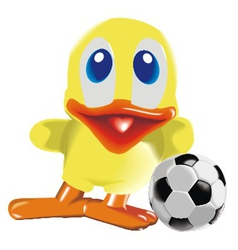 duck with ball vector image vector image