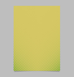 Halftone pine tree pattern brochure template vector