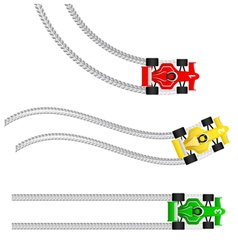 race cars with various tyre treads vector image
