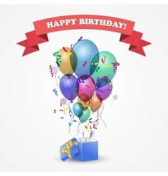 Template for Happy birthday card vector image