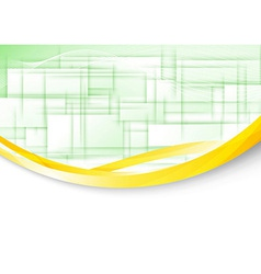 Transparent background with golden border vector image vector image